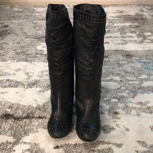Mix mooz leather zip boots